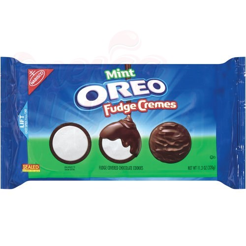 Печенье Oreo Fudge Cremes Mint 320 гр.