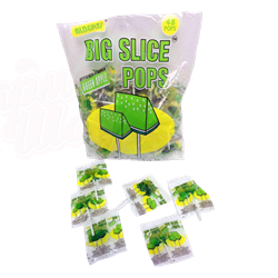Леденец Big Slice Pops Green Apple Яблоко - фото 5173