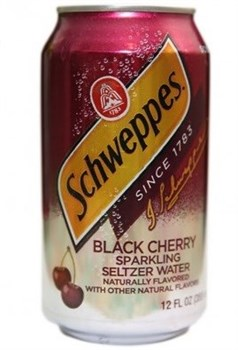 Schweppes black cherry 0,355л - фото 5279