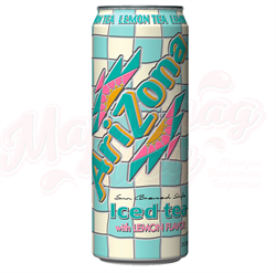 Холодный чай Arizona Iced tea with lemon, 0.340 л - фото 5417