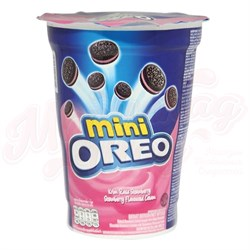 Печенье Oreo mini Strawberry Creme 67 гр. - фото 5705