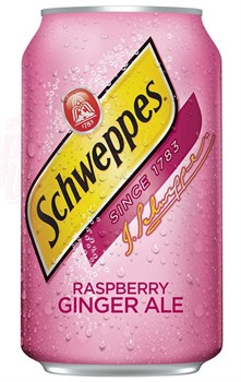 Schweppes Raspberry Ginger Ale 0,355 л - фото 6598