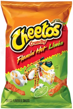 Чипсы Cheetos Flamin Hot Limon Crunchy 56 гр. - фото 7147