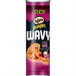 Чипсы Pringles Wavy Sweet and Tangy BBQ 137 гр. - фото 8274