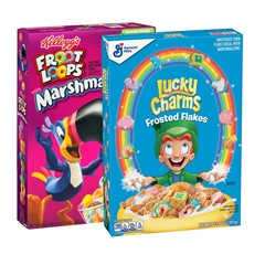 Набор готовых завтраков Kellogg's Froot Loops + Lucky Charms Frosted Flakes (2 шт)