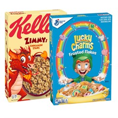 Набор готовых завтраков Zimmy's Cinnamon Stars Cereal + Lucky Charms Frosted Flakes (2 шт)