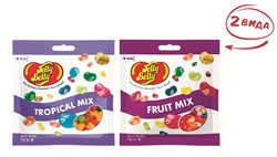 Конфеты Jelly Belly Tropical Mix 70 гр.+ Fruit Mix 70 гр. (2 шт.)