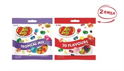 Конфеты Jelly Belly Tropical Mix 70 гр.+ 20 вкусов 70 гр. (2 шт.)