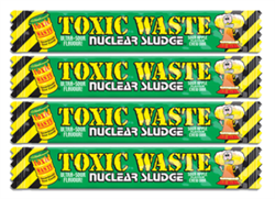 Кислая конфета Toxic Waste Nuclear Sludge Bar (яблоко) 4 шт по 20г