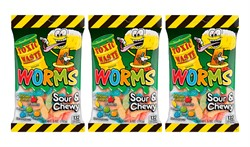 Кислый мармелад Toxic Waste Sour Worms (3 шт. по 142 гр.)