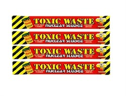 Кислая конфета Toxic Waste Nuclear Sludge Bar (вишня) 4 шт по 20г