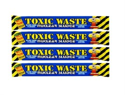 Кислая конфета Toxic Waste Nuclear Sludge Bar (малина) 4 шт по 20г