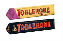 Набор шоколада Toblerone Fruit & Nut + Dark (2 шт по 100 гр.)