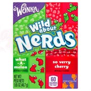 Конфеты Wonka Nerds Watermelon Wild Cherry Арбуз Черешня  46,7 гр.