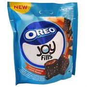 Хрустящие подушечки Joyfilis Oreo Choco Caramel Biscuits Soft 90 гр.