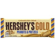 Шоколад Hershey`s Gold With Peanuts & Pretzels 39 гр.