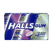 Жвачка HALLS Ice Rush Blueberry голубика 18 гр.