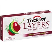 Жвачка Trident Layers Cherry+Lime 29,8 гр.